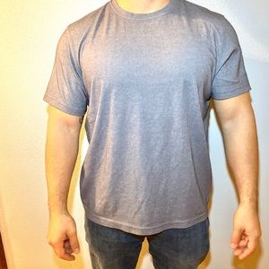 Fitted Men's large gray shirt by Tasso Elba